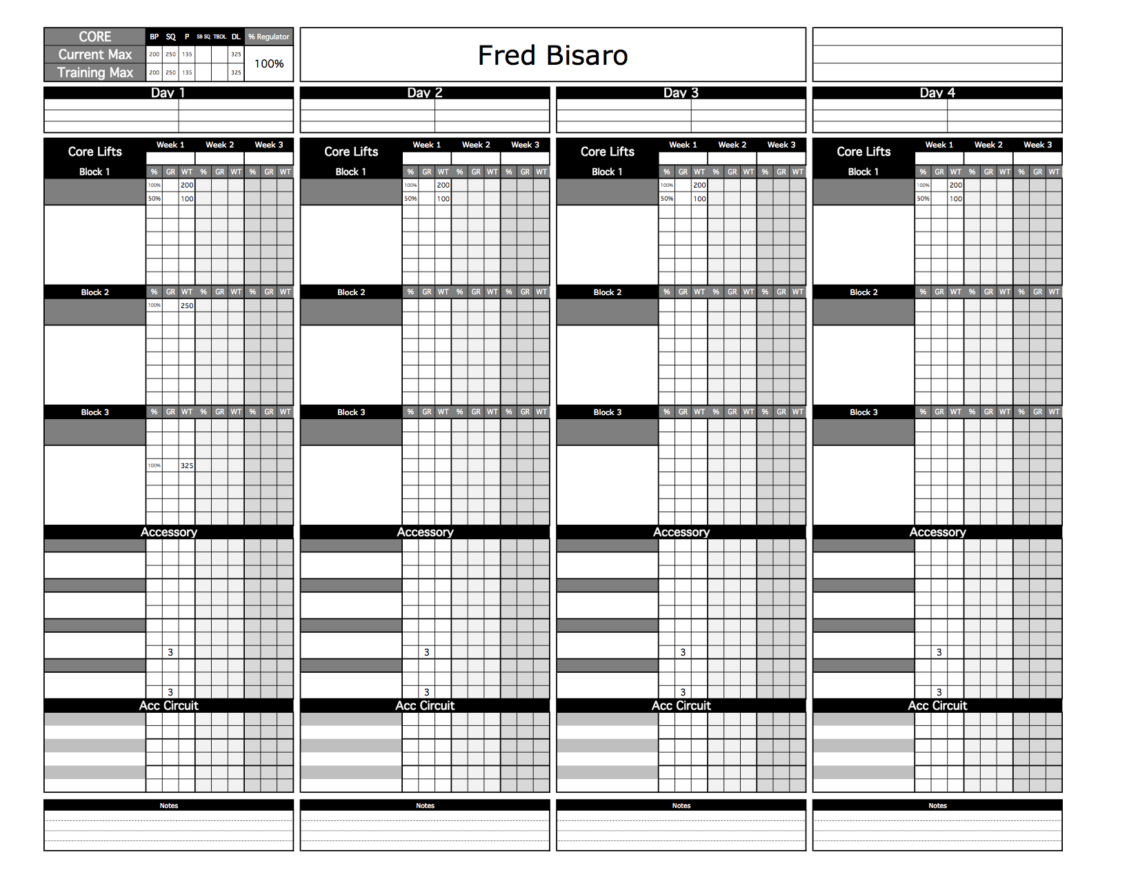 custom excel template for strength coaches youtube