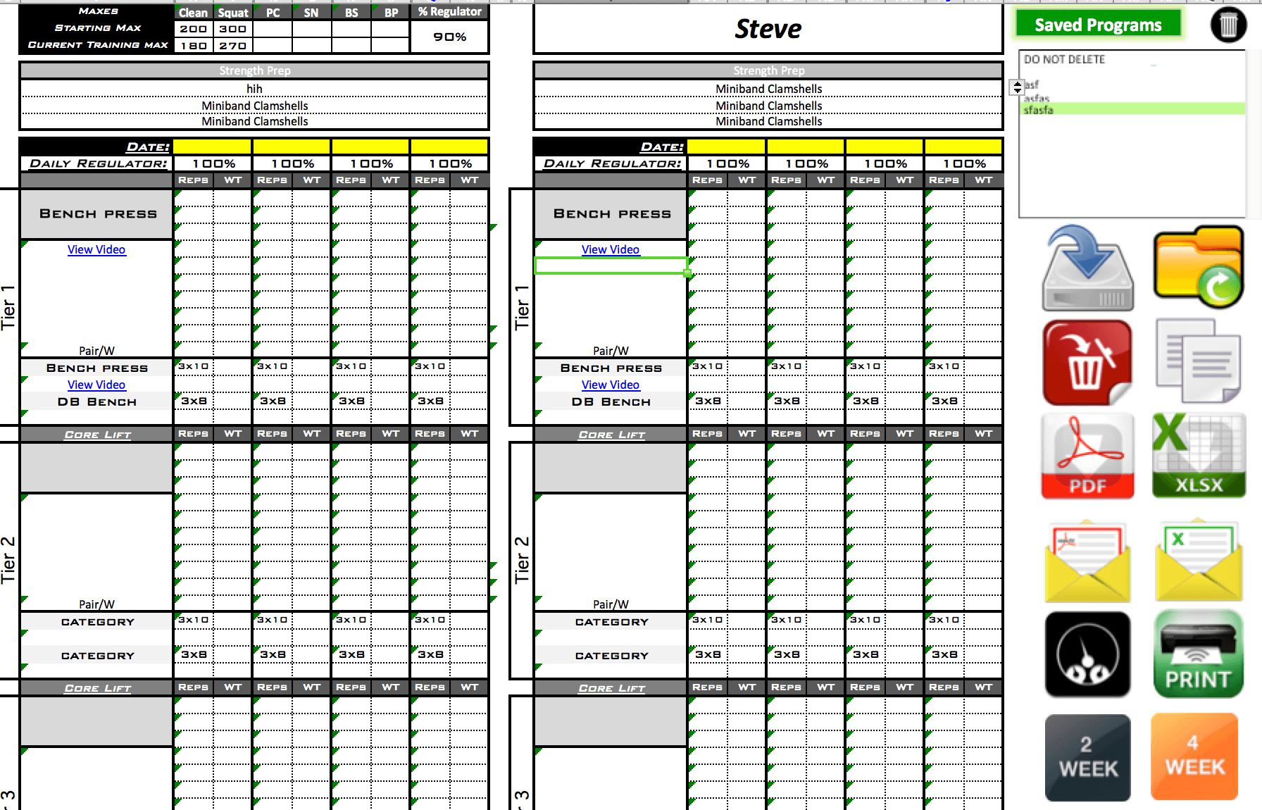 Online Training Template - Excel Training Designs