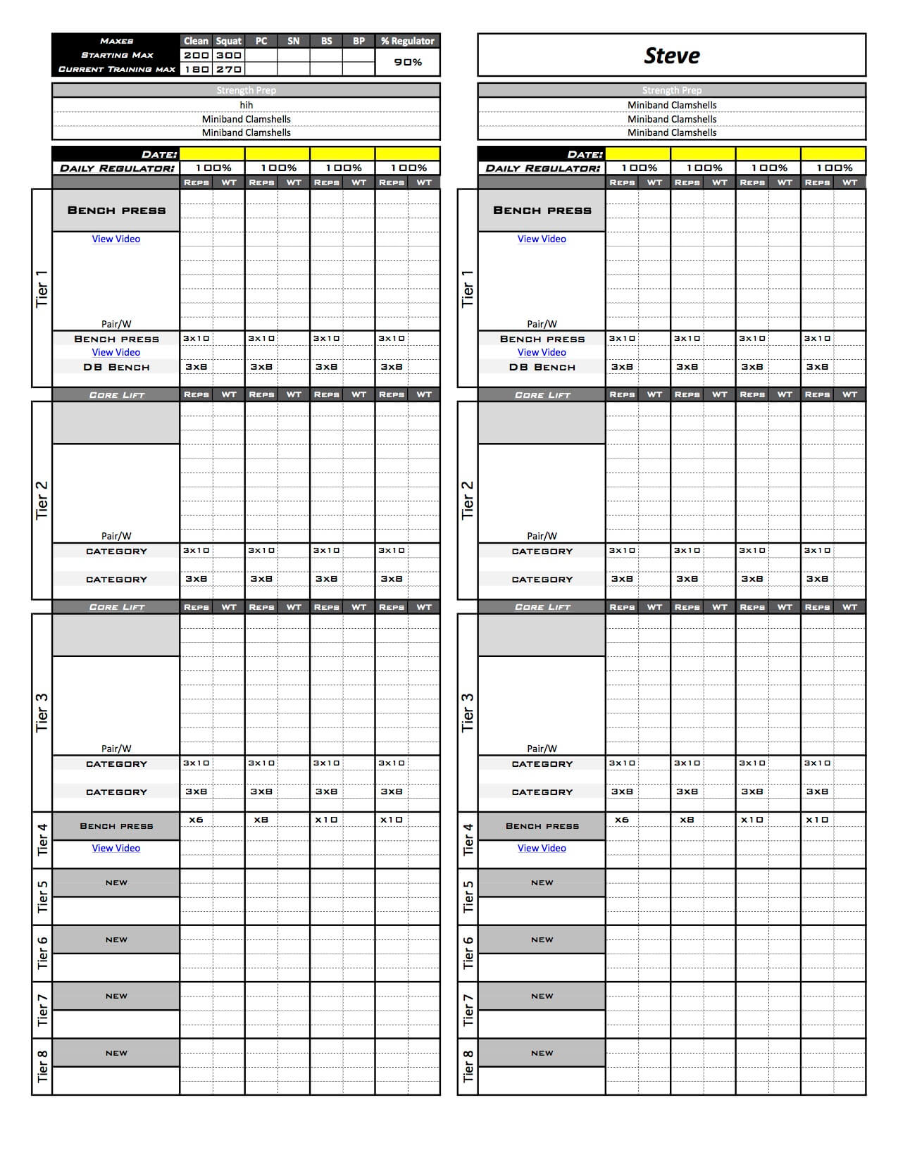 Online Training Template Excel Training Designs